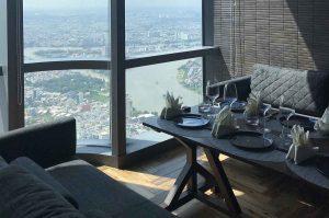 Mỗi khu vực phòng riêng điều có view nhìn ra toàn thành phố