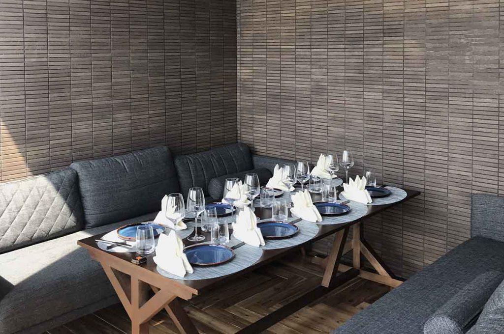 Nhà hàng sang trọng thường có những không gian riêng cho nhóm thực khách
