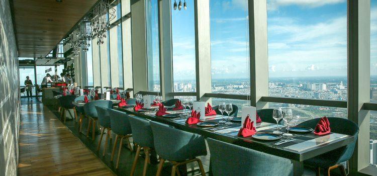 Không gian nhà hàng tại landmark 81