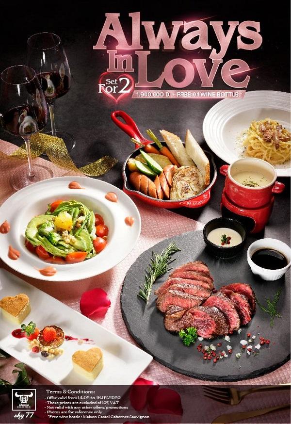 nhà hàng lãng mạn valentine